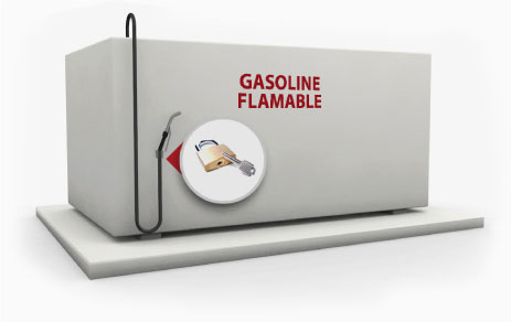 Fuel Management Solution Fueling Station gasoline tank before
