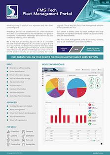 FMS Tech Fleet Management Portal Data Sheet