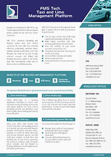 FMS Tech Taxi & Limo Management Platform Data Sheet
