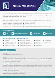 Journey Management Data Sheet