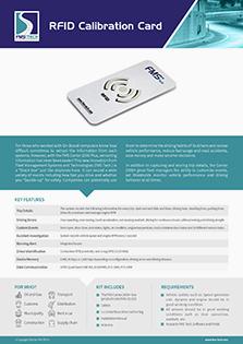RFID Calibration Card Data Sheet