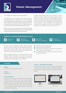 Waste Management Data Sheet